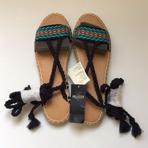 Hollister blue sandal